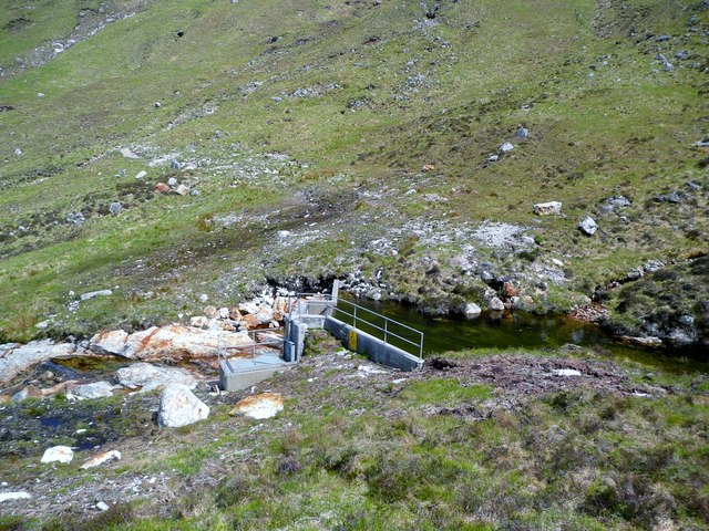 New dam for a small hydro-electric scheme on the Allt Coire Ghiubhsachain