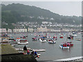 SX9372 : Procession of boats, Teignmouth harbour: 2 by Robin Stott
