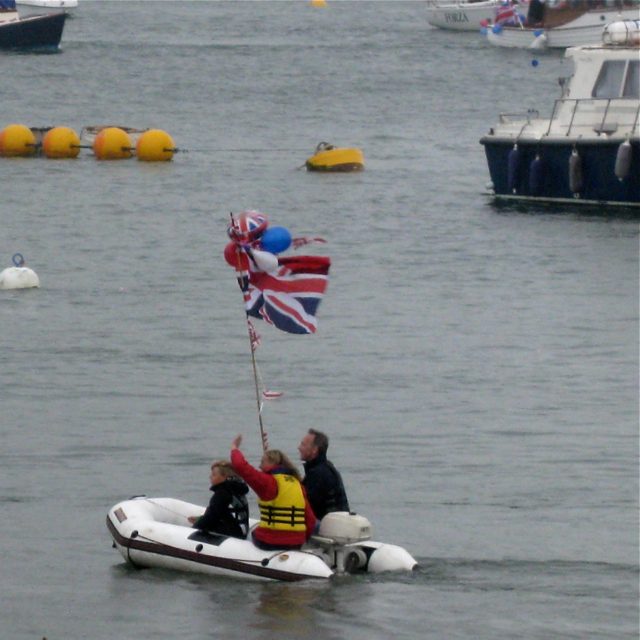 Procession of boats, Teignmouth harbour: 3