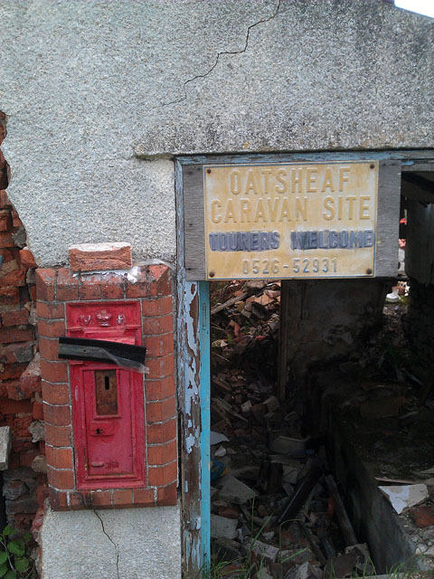 Oat Sheaf postbox no longer in use