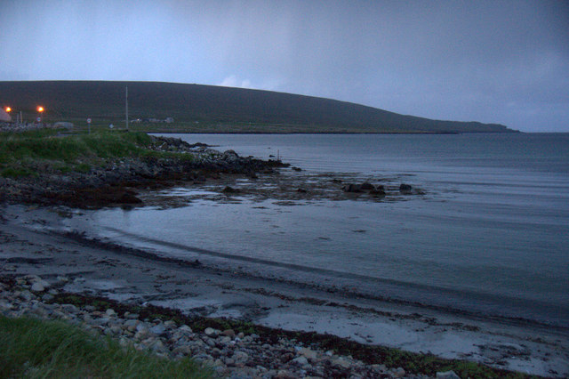 Whaal Ayre, Haroldswick, on a dull summer evening