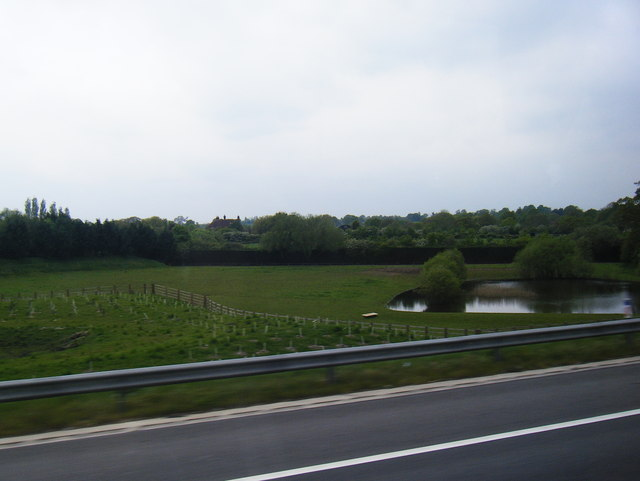 View towards Green farm from the M25