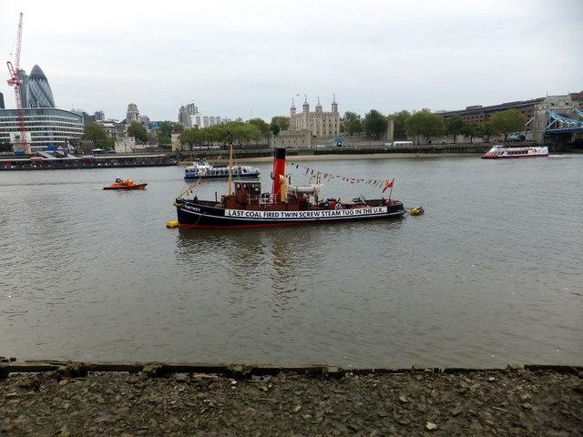 The Last Coal Fired Twin Screwed Steam Tug in the UK