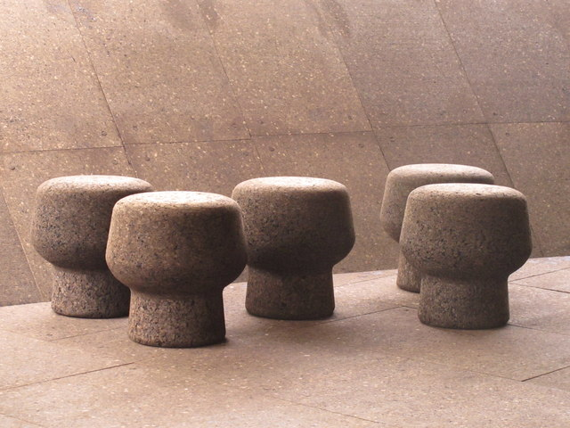 Cork-covered stools, Serpentine Gallery Pavilion 2012