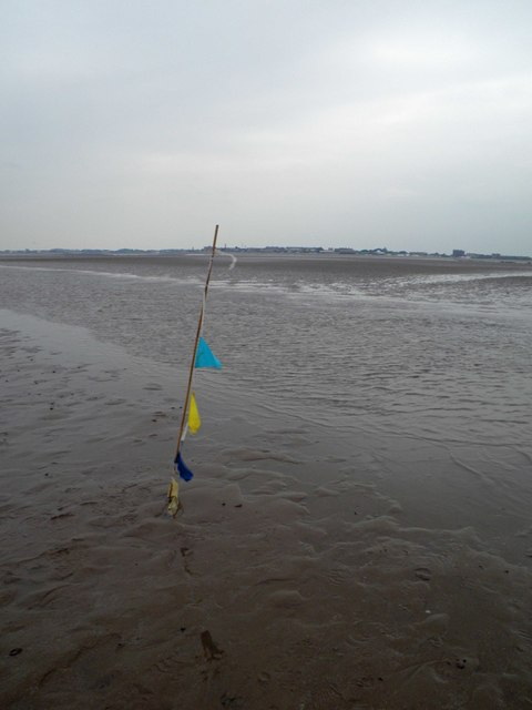 Wreck trek marker flag with Fleetwood ahead
