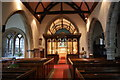 TQ7550 : Interior, St Nicholas' church, Linton by Julian P Guffogg