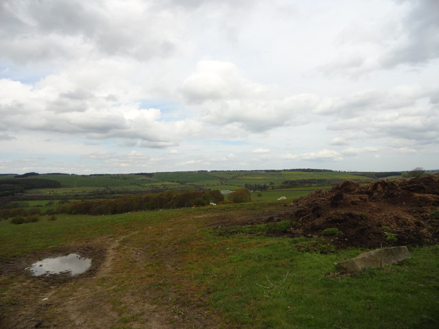 View to the north from the roadside