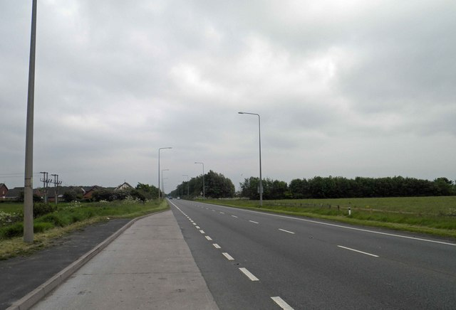 Layby on the A585 leaving Fleetwood