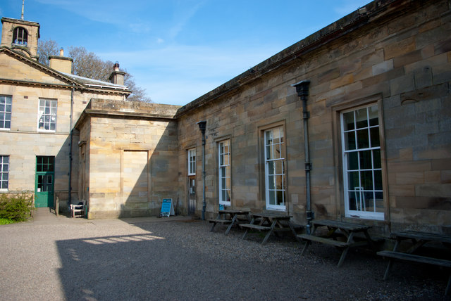 Outside the Earl Grey Tea House, Howick Hall