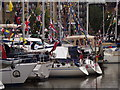 TQ3380 : Diamond Jubilee Bunting at St Katharine Docks by Colin Smith