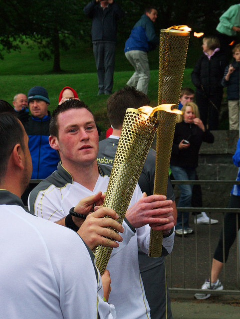 Olympic Torch Relay, Bangor