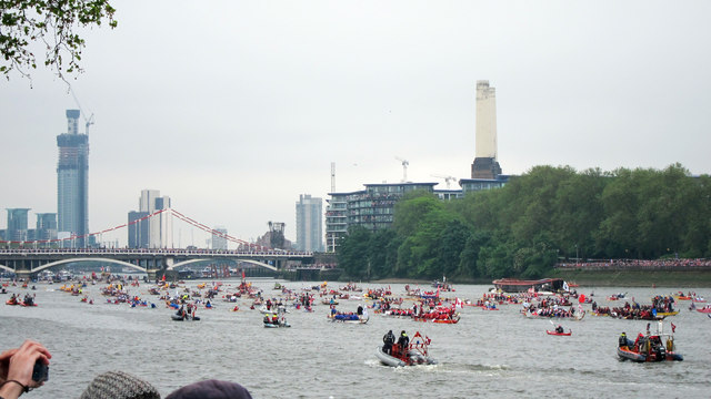 Rowing boats, Jubilee Pageant