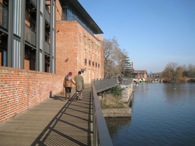 Riverside boardwalk, Royal Shakespeare Theatre