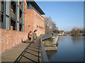 SP2054 : Riverside boardwalk, Royal Shakespeare Theatre by Robin Stott