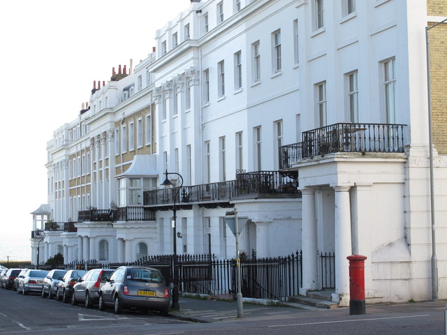 Sussex Square, BN2 (west side, south of Eastern Road)