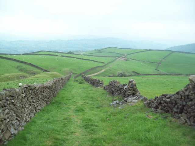 Footpath, Fields and Dry Stone Walls
