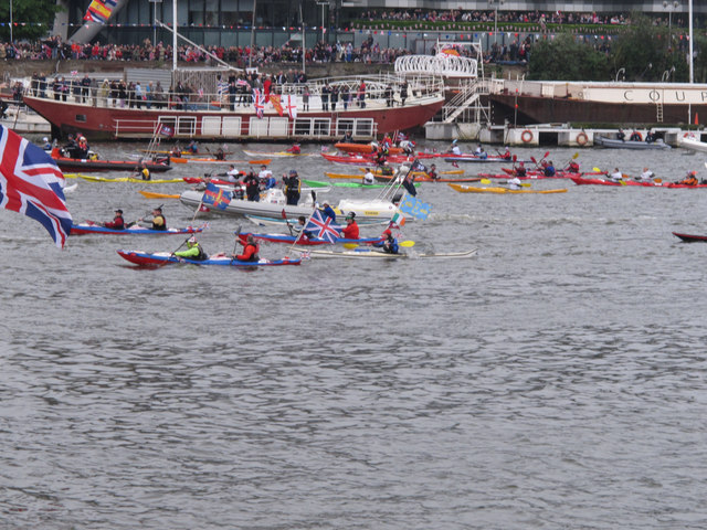 Diamond Jubilee Pageant - kayaks