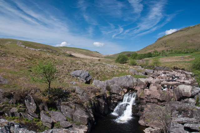 Waterfall on the Afon Claerwen - Elan Valley