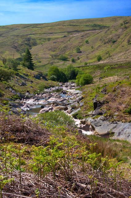 Downstream view on the Afon Claerwen - Elan Valley