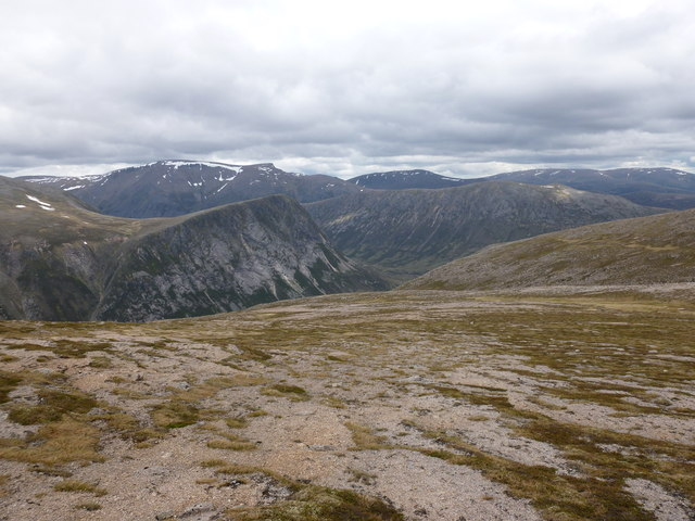 Wind-scoured slopes of Beinn Bhrotain