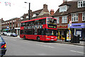 TQ3562 : Selsdon:  Addington Road:  Bus on Route 64 by Dr Neil Clifton