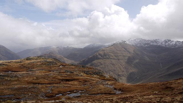 Col south-east of Sgùrr Mhic Bharraich