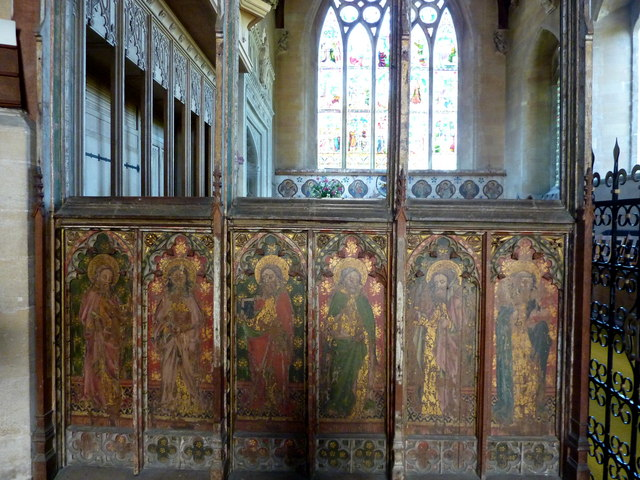 Rood screen in St. Mary's church, Old Hunstanton
