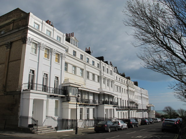 Sussex Square, BN2 (east side, south of Eastern Road)