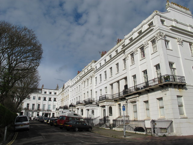 Sussex Square, BN2 (east side, north of Eastern Road)