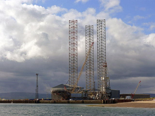 Oil Rig in the Dry Dock at Nigg