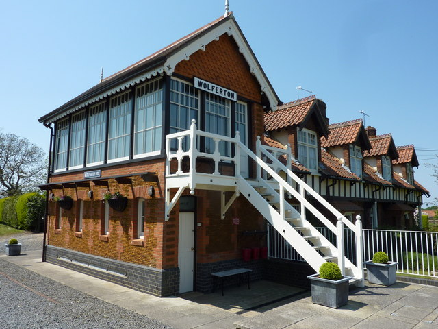 The signal box at the Royal Station, Wolferton