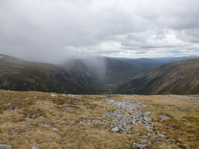 View down Glen Geusachan from Monadh Mor
