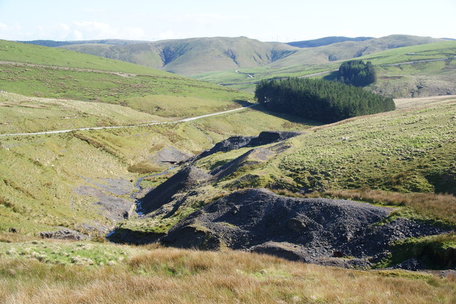 Former mining activity in Nant Iago