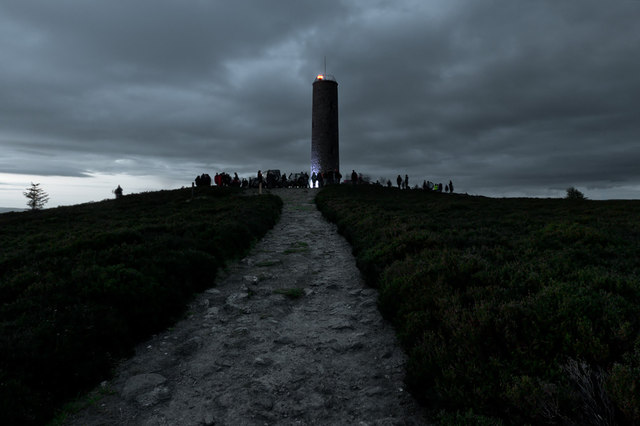 The Beacon on Scolty for the Queen's Diamond Jubilee