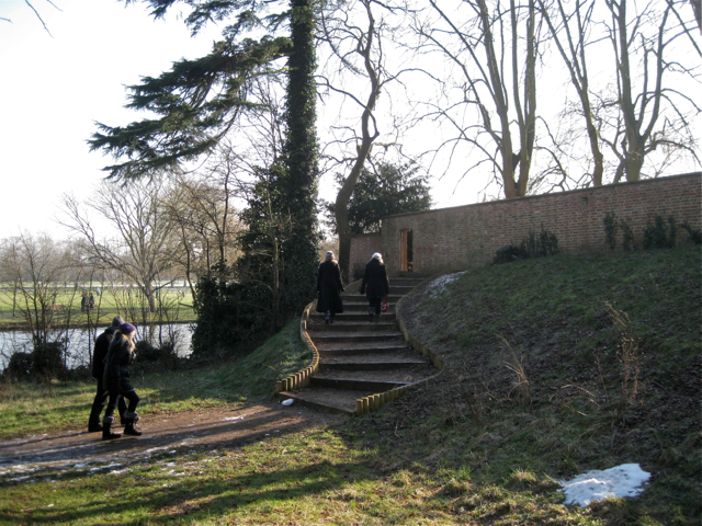 New steps and entrance to Holy Trinity Churchyard