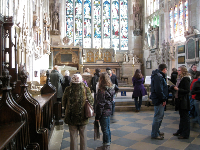 Visiting Shakespeare's grave, Holy Trinity Church