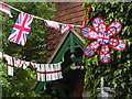 TQ0447 : Diamond Jubilee Bunting by Colin Smith