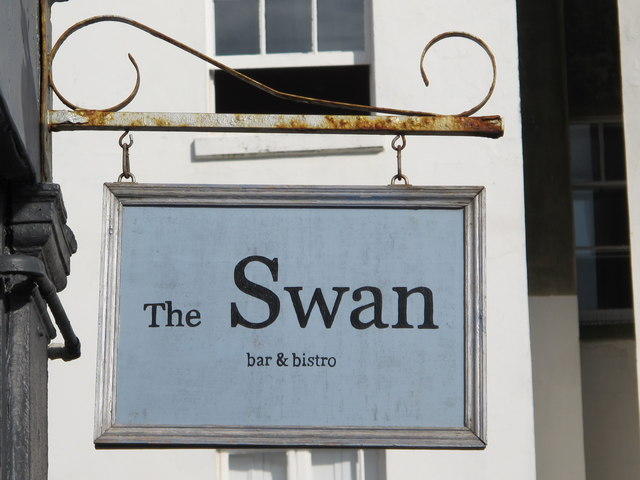 Sign for The Swan, Rock Street, BN2