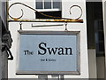 TQ3303 : Sign for The Swan, Rock Street, BN2 by Mike Quinn