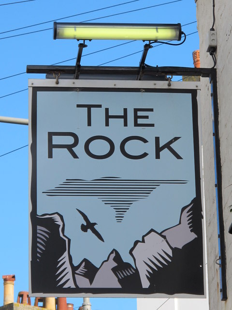 Sign for The Rock, Rock Street, BN2