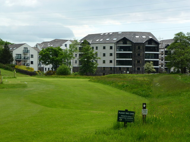 Golf course and apartments