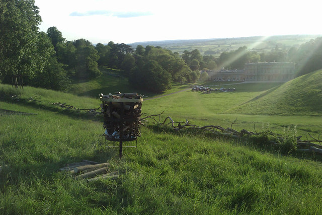 Before the Jubilee Beacon was lit at Dyrham Park
