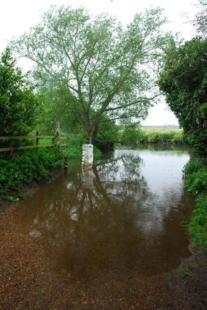 Little Lawford Ford from the south bank of the Avon