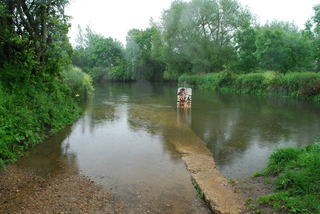 Little Lawford Ford  from the north bank of the Avon