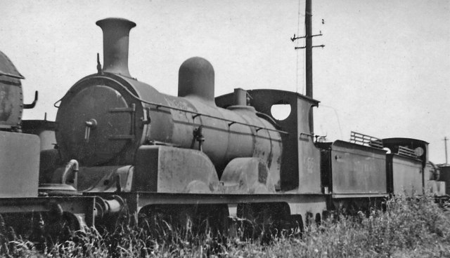 Ex-LSWR Adams 0-4-2 dumped at Eastleigh Locomotive Depot