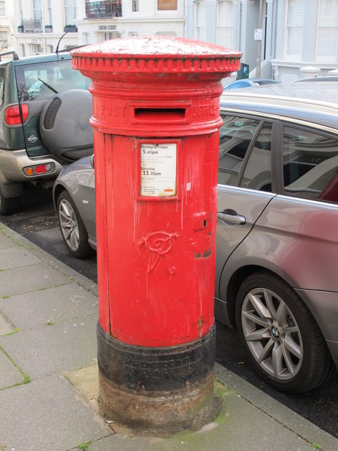 Victorian postbox, Eaton Place, BN2