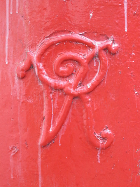 Victorian postbox, Eaton Place, BN2 - royal cipher