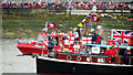 TQ2777 : Historic boats, Jubilee Pageant by Oast House Archive