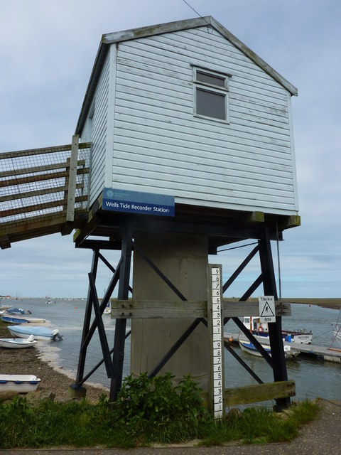 Wells tide recorder station, Wells-next-the-Sea