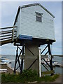 TF9143 : Wells tide recorder station, Wells-next-the-Sea by pam fray